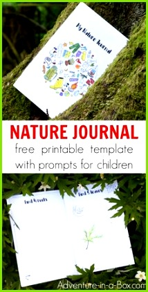 Learn how to start a nature journal with kids using a free printable template that offers