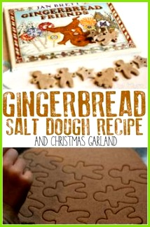 Fun recipe to make some simple gingerbread scented salt dough ideal for making Christmas decorations with