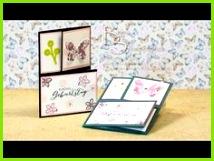 Triangle Tri Fold Card Dreifach gefaltete Dreieckskarte mit Produkten von Stampin Up