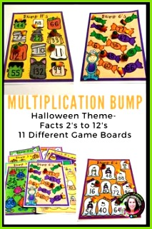 Your students will LOVE practicing those multiplication facts with these fun colorful Halloween themed multiplication