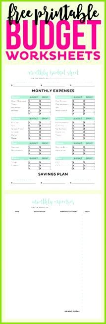 Kostenlose bedruckbare Bud Arbeitsblatt Planungsseite Persönliche Finanzen und Ausgaben 8 5