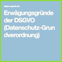 Erwägungsgründe der DSGVO Datenschutz Grundverordnung