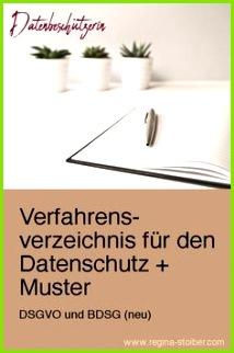 Datenschutz Verfahrensverzeichnis nach DSGVO