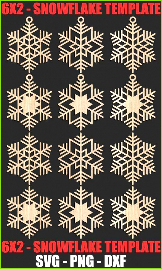 Wooden Art Laser Cutting Cutting Files Cnc Snowflakes Christmas Ornaments