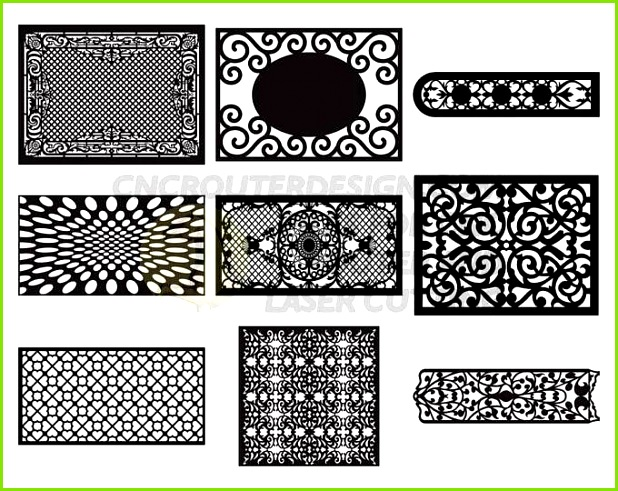50 Türen DXF Cdr Pdf Ai CNC Router Plasma Datei Sammlung 50