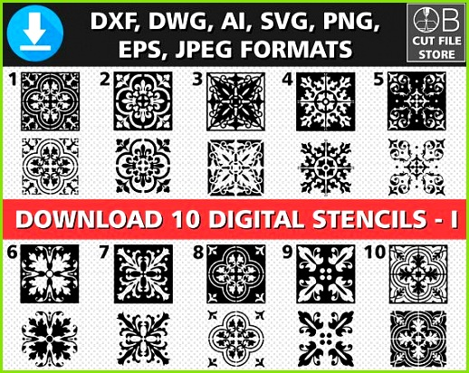 Stencil Patterns Geometric Wall Laser Cutting Cutting Tables Templates Digital