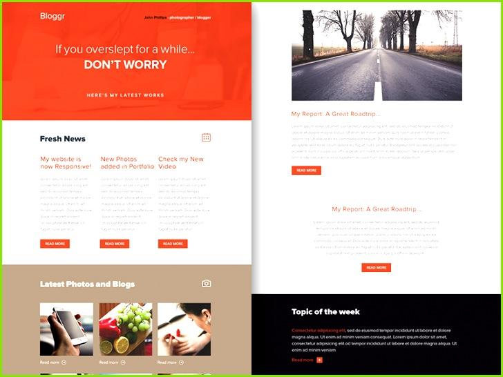 Freebie PSD Sketch Bloggr Responsive Html Email Newsletter themeforest template sketch rocketway