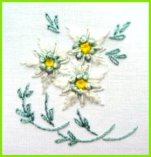 edelweiss hand embroidery pattern Google Search