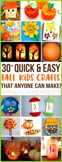 Einfache süsse Bastelideen für den Herbst Make these quick easy autumn fall kids crafts in under 30 minutes with basic supplies