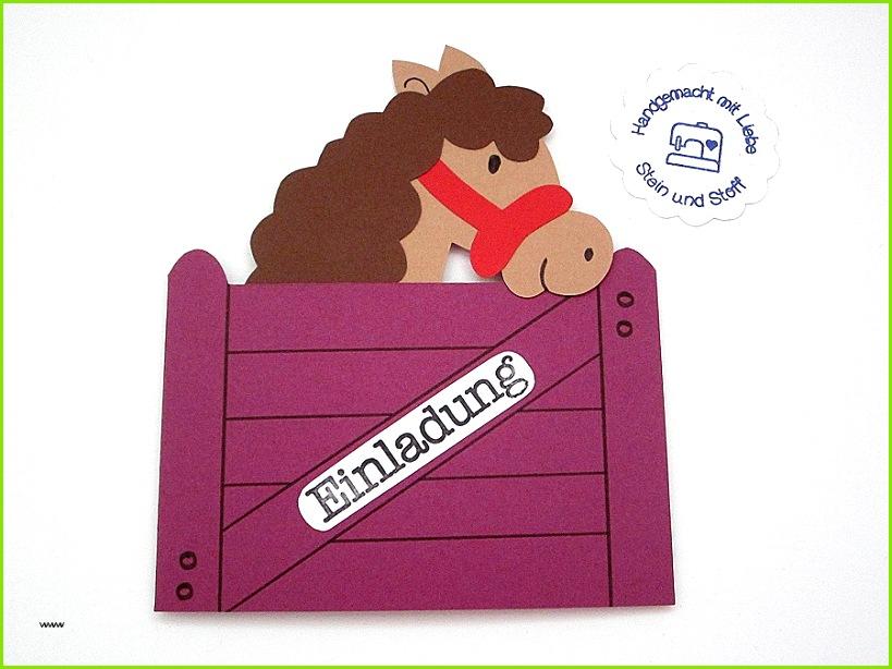 Einhorn Einladungskarten Basteln Einzigartig Einladung Kindergeburtstag Pferd Vorlage Louiesoldmill