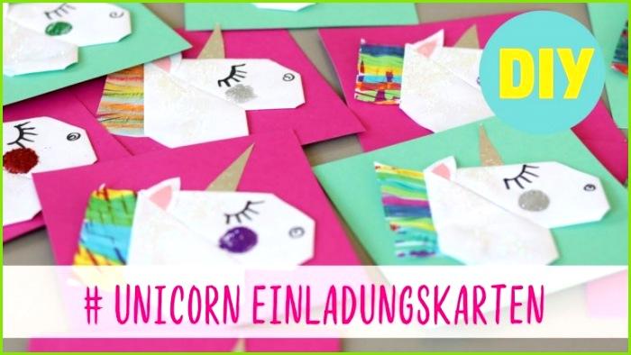 Einladungen Einladung Einhorn Einladung Kindergeburtstag Einhorn