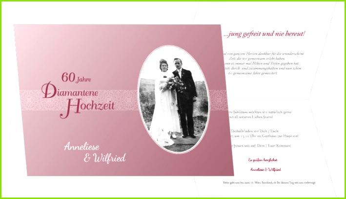 Diamantene Hochzeit Einladungskarten zur Diamanthochzeit selbst gestalten