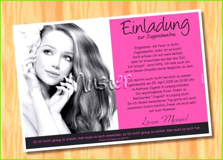 Text Einladung Einladungskarten Jugendweihe Muster 21 Bild Vergrößern Einladung Jugendweihe Text Vorlagen Einladungskarten Coole Einladungskarten 0d