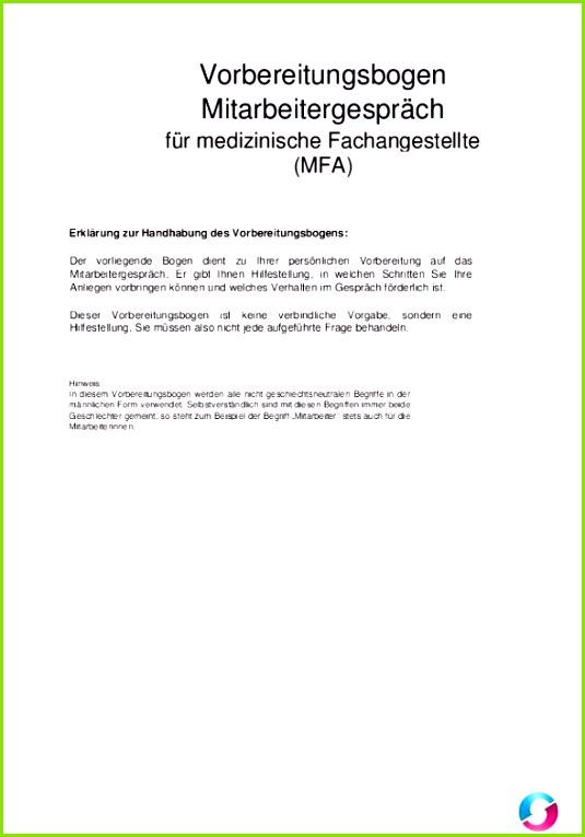 Mitarbeitergespräch Information und Vorbereitungsbogen Kostenlose Vorlagen Arztpraxis Teramed