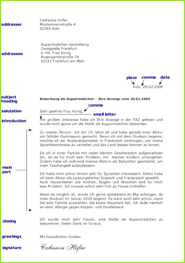Toms Deutschseite Schreiben Formeller Brief