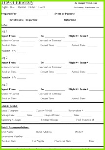 Free Travel Itinerary Template Download Edit and Print this Microsoft Word document to organize