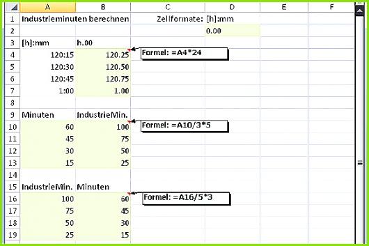 Excel Stunden Berechnen Vorlage Schön Excel Rechnen Mit 100 Industrieminuten Pro Stunde Pctipp