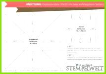 Anleitung Explosionsbox 10x10 vier aufklappbare Seiten