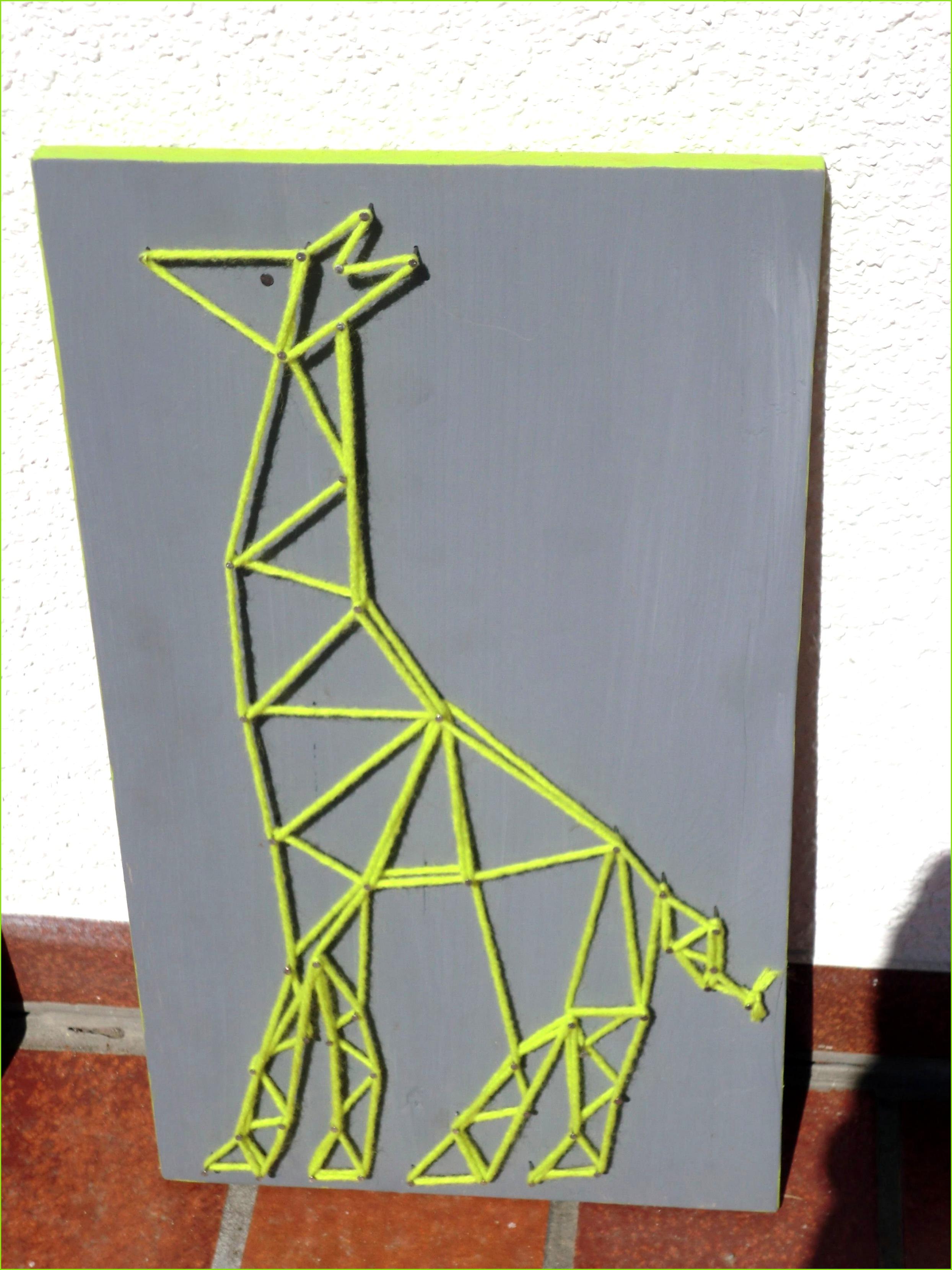 Giraffe Nagelbild Fadenbild