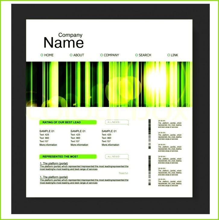 Fertige Homepage Vorlagen Kostenlos Super Website Design Vorlage In Grün Natur Stil