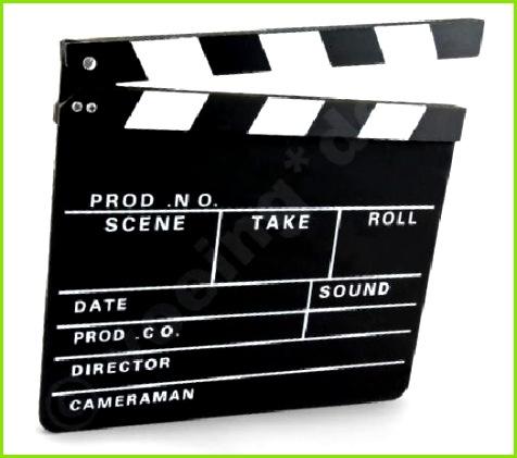 Clapperboard klappe Regieklappe 30 x 26 cm Slate Regie Klappe Klappe in e & DVDs Fanartikel Requisiten & Kostüme