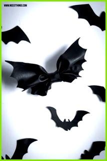 Halloween DIY Bat Bow Fledermaus Schleife und Halloween Kostüm