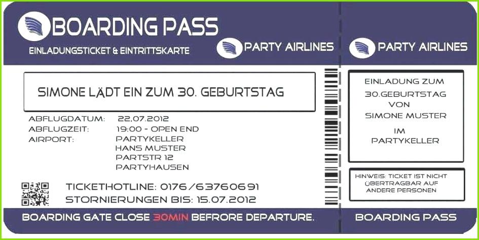 Einladung Flugticket Vorlage Kostenlos Neu Einladung Vorlage