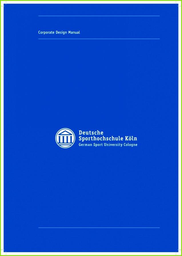 1 8755eddc8c4aee617f9cdb92f1a61b96 Corporate Design Manual Deutsche Sporthochschule Köln Flyeralarm Indesign Vorlagen