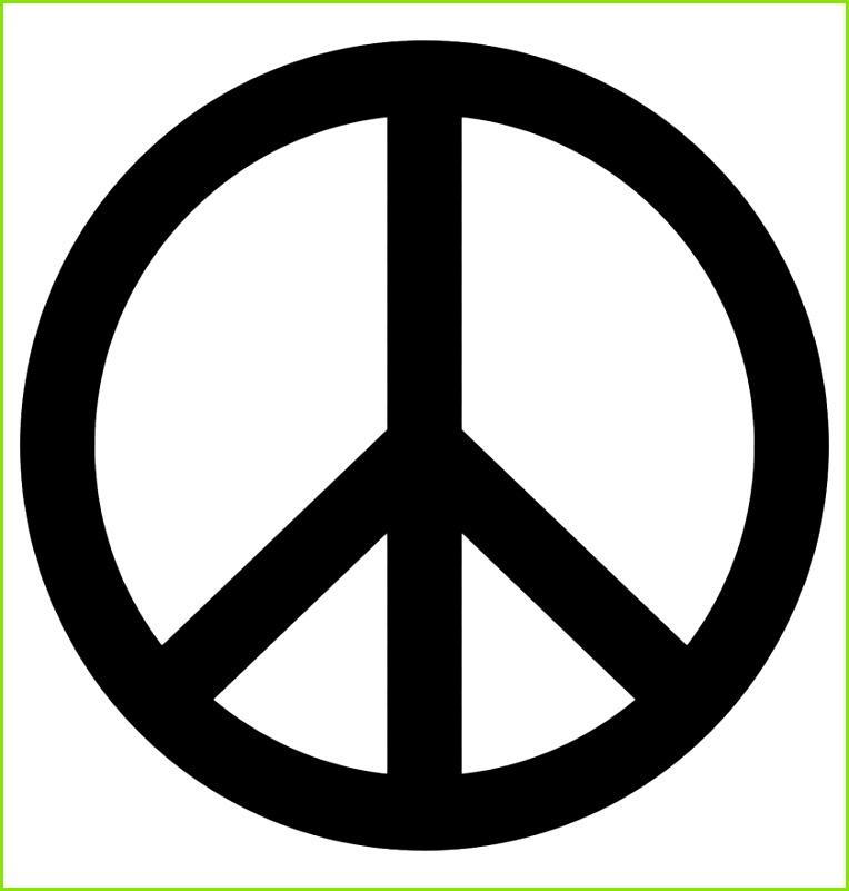 Friedenszeichen Frieden Symbol Peace Zeichen Peace Sign