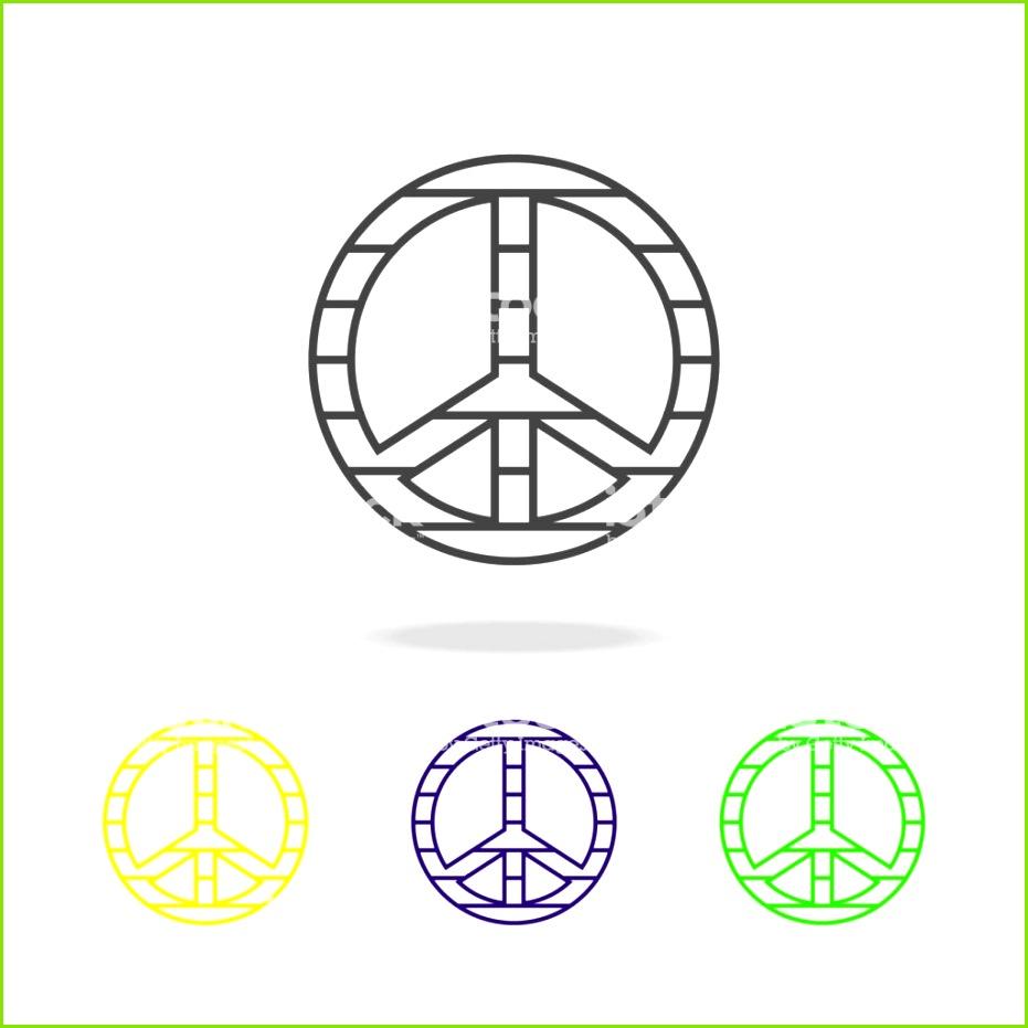 Friedenszeichen bunten Symbol Element der LGBT Illustration Zeichen und Symbole Sammlung Symbol
