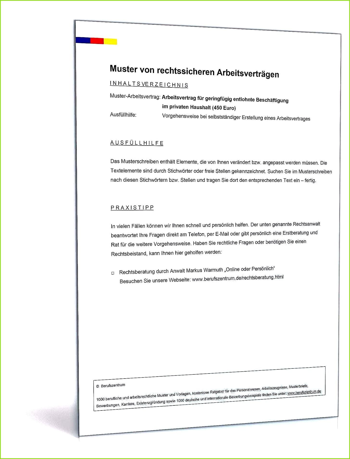 Führerscheinkontrolle Arbeitgeber Vorlage Inspirierende Arbeitsvertrag Minijob Privater Haushalt