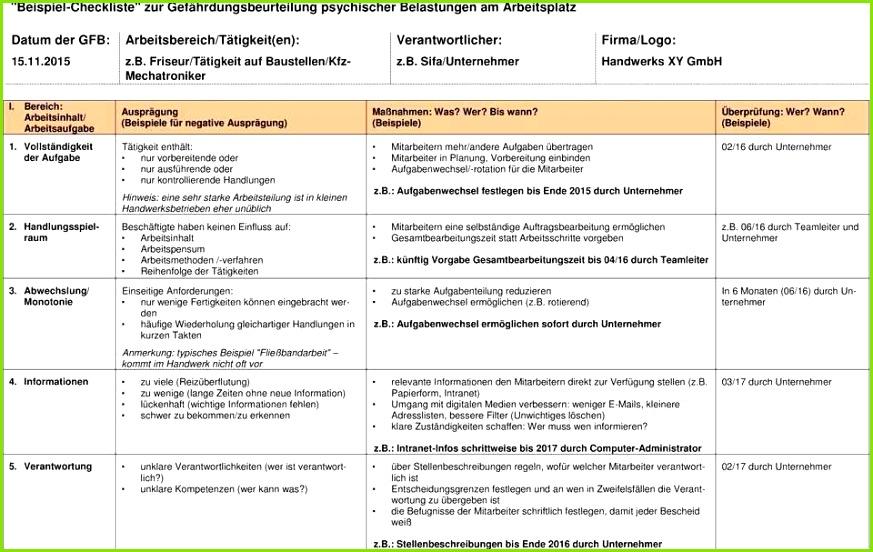 Gefährdungsbeurteilung Vorlage Kostenlos Best Nett Arbeitsplatz Checkliste Vorlage Bilder