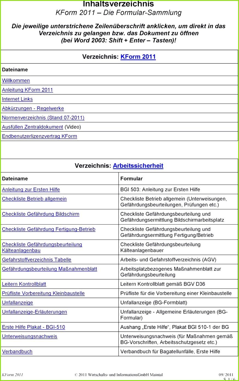 Gefährdungsbeurteilung Vorlage Pdf Neu Genial Verbandbuch Vorlage