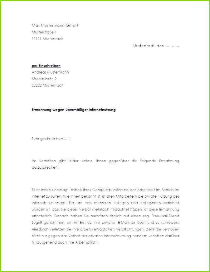 Abmahnung wegen privater Firmen PC Nutzung Musterbrief Nutzungsvereinbarung Privat PKW Vorlage zum Download – Gegendarstellung Abmahnung Muster