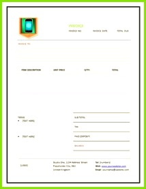 CellPhone Repair Invoice panies