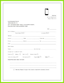 CellPhone Repair Invoice Service