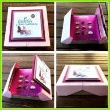 Double Flip Top Box Pralinen Verpackung BastelnSchachteln