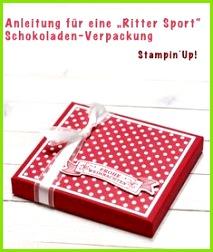 Anleitung für eine Schokoverpackung Conibaers creative desk  Constanzes kreatives Blog Weihnachten Verpackung Basteln