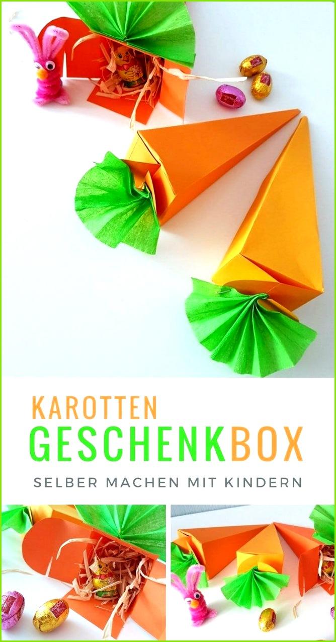 Karotten Geschenkverpackung zu Ostern basteln inkl Vorlage DIY Kinder Basteln mit Kleinkindern Pinterest