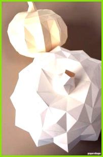 Moderner DIY Kürbis aus Papier Basteln mit Vorlage
