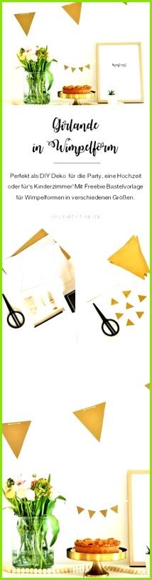 DIY Girlande als Wimpelkette basteln
