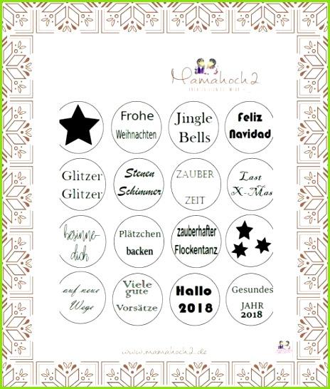 """Druckdatei """"Sprüche für Glücksteelichter Weihnachten und Silvester"""" von Mamahoch2 Der Shop von Mamahoch2"""