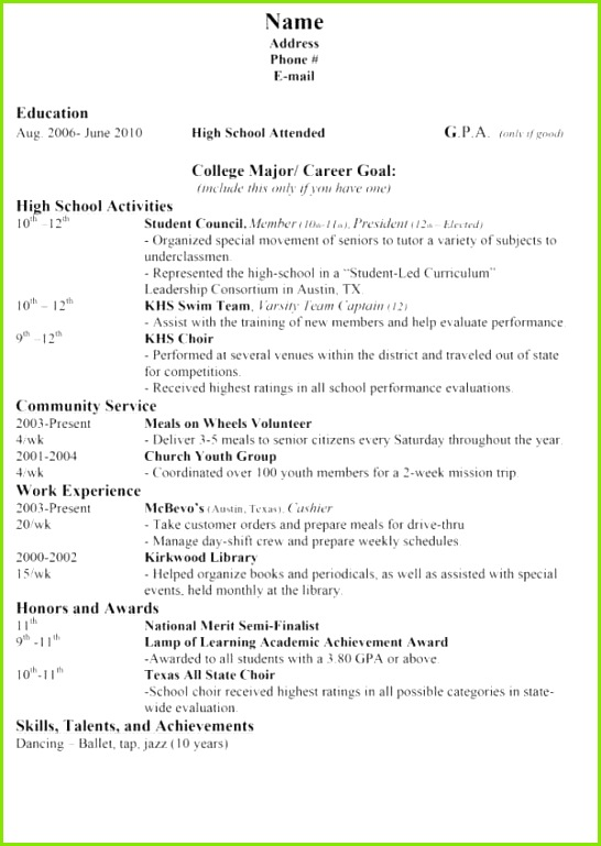 High School Graduate Resume Template Awesome Resume Fresh Resume Template Resume Template 0d ath Con Simple