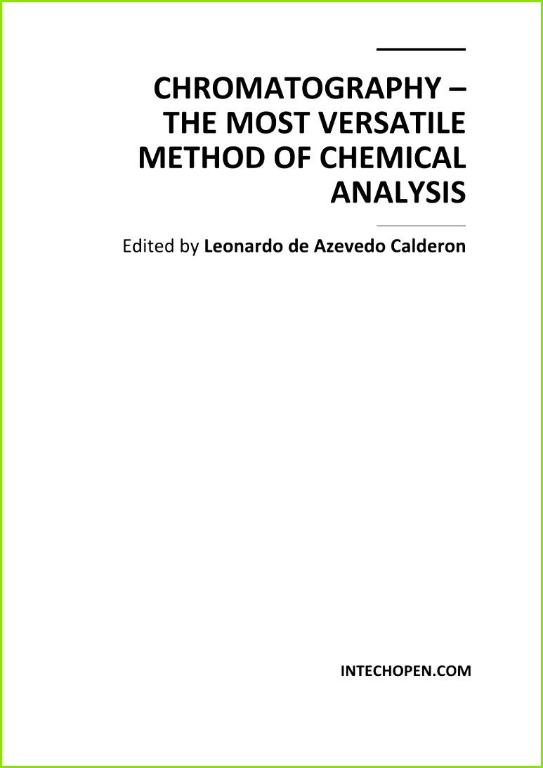 PDF Chromatography the most versatile method of chemical analysis