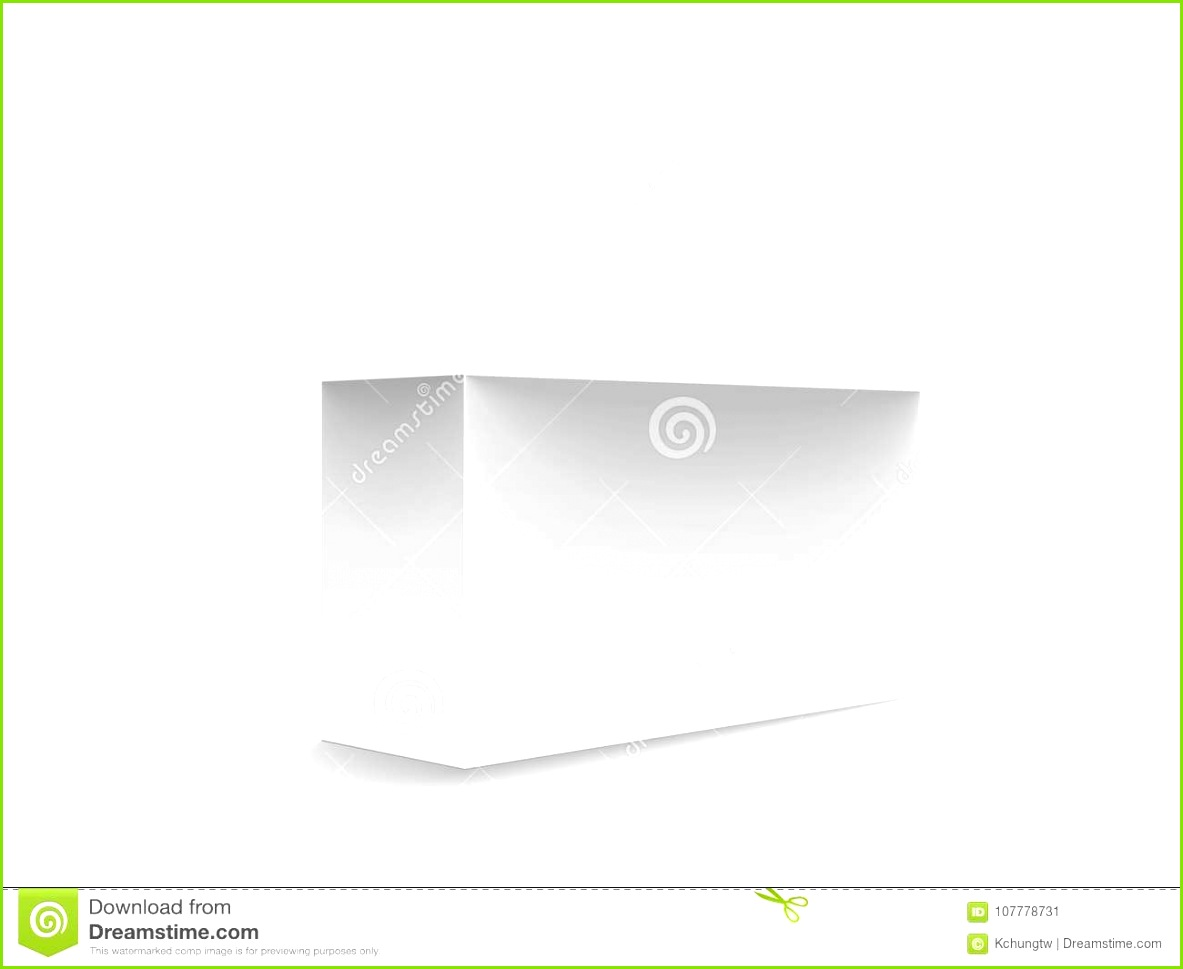 Roll end tuck front box mockup blank paper box template design in 3d illustration on white background