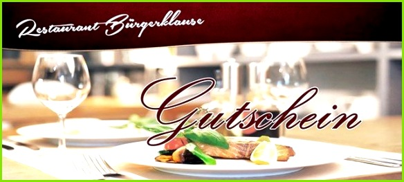 Atemberaubend Restaurant Gutschein Vorlage Kostenlos Galerie