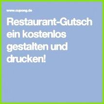 Restaurant Gutschein kostenlos gestalten und drucken