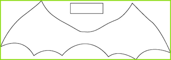 bat bow tie template diy halloween costumes
