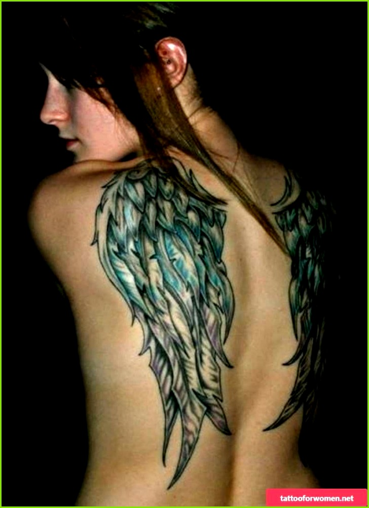 The popular tattoo of teenagers angel wings templates and meaning