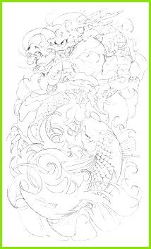dragon koi half sleeve tattoo by brado23 traditional art drawings d v tattoodonkey